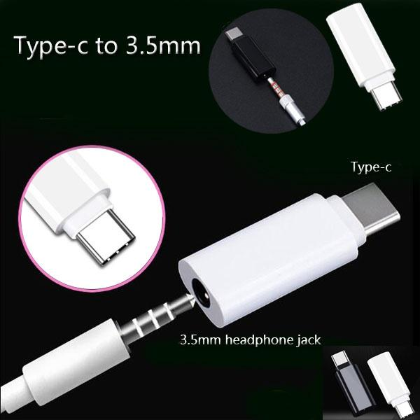 Type-C To 3.5mm Earphone Cable Adapter USB 3.1 Type C USB-C Male To 3.5 AUX Audio Female Jack For Samsung Huawei Xiaomi 9 8