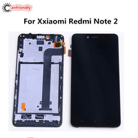 For Xiaomi Redmi Note 2 LCD Display Touch Screen With Frame Replacement Digitizer Assembly For Xiaomi