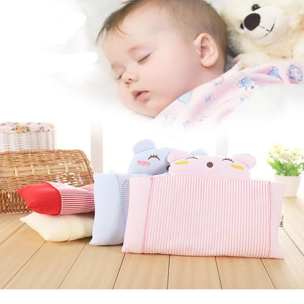 Hot Sale Bebê Recém-nascido Travesseiro Moldar Travesseiro Do Bebê Do Algodão Travesseiro Para Dormir Confortável 4 Cores Travesseiro Forma Bebê Recem-nascido