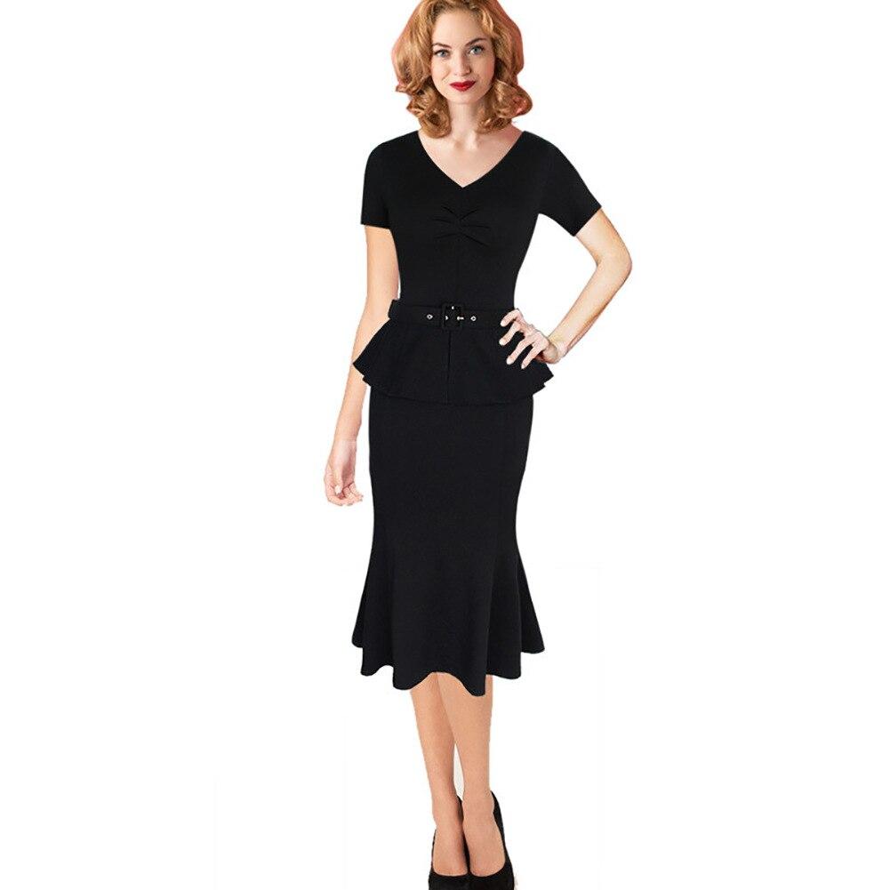 Popular Black Fitted Mermaid Dress-Buy Cheap Black Fitted Mermaid ...