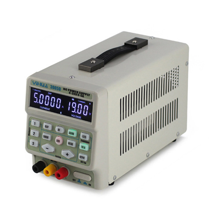 Image 4 - YIHUA 3005D DC Power Supply Digital program control 30V 5A Precise adjustment mobile phone signal test function DC Power Supply-in Voltage Regulators/Stabilizers from Home Improvement