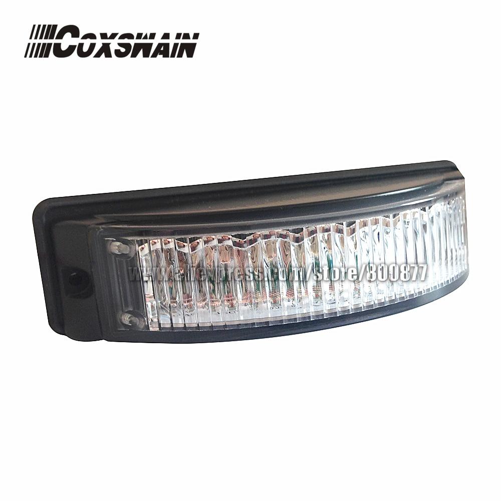 LED felületre szerelhető fény, LED figyelmeztető lámpa, 8 * 3W LED, 19 vaku, Syn vagy alternatív vaku, 180 fokos vaku, LED grill fény