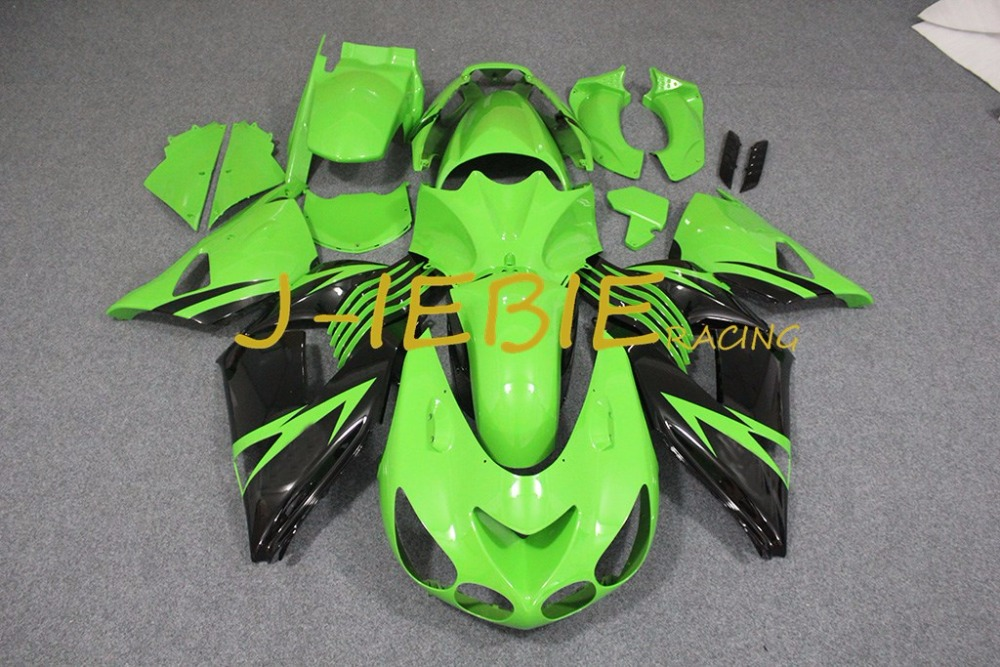 Green black Injection Fairing Body Work Frame Kit for Kawasaki NINJA ZX14R ZX14 ZX 14 R 2006 2007 2008 2009 2010 2011