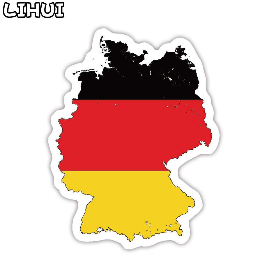 1 PCS Germany Flag Sticker Toys For Children Countries Map Travel Stickers To DIY Scrapbooking Suitcase Luggage Laptop Car Motor