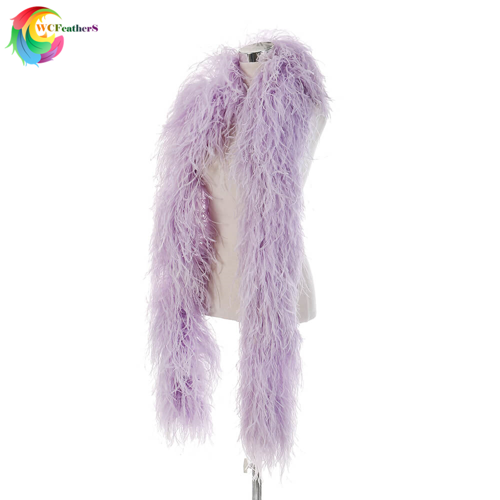 New Violet 10ply Encrypted Ostrich feather shawl Width 28-30cm feather strip Carnival Wedding Party decoration AccessoriesNew Violet 10ply Encrypted Ostrich feather shawl Width 28-30cm feather strip Carnival Wedding Party decoration Accessories