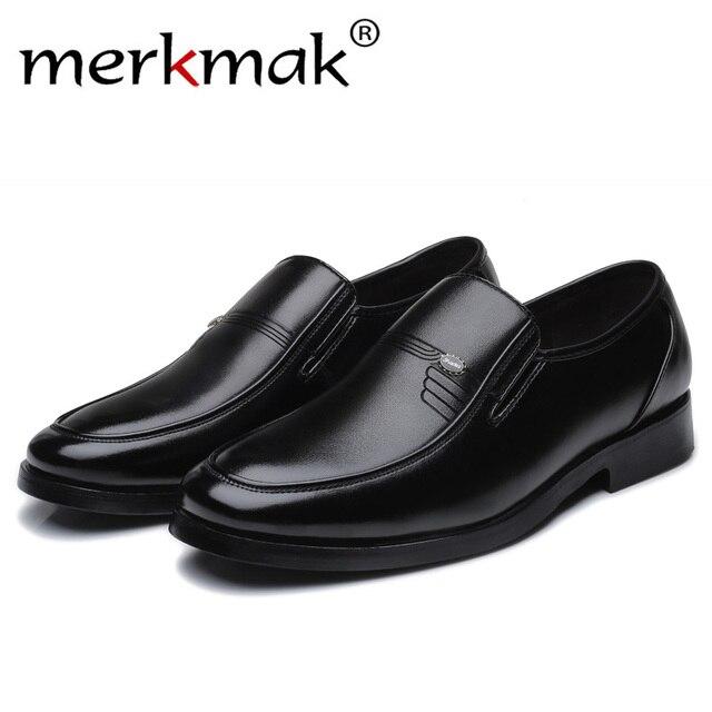 Luxus Marke Männer Leder Formale Business Schuhe Männlichen Büro Arbeit Flache Schuhe Oxford Atmungs Partei Hochzeitstag Schuhe