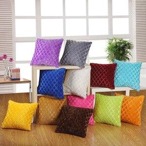 Short plush cushion hug pillow