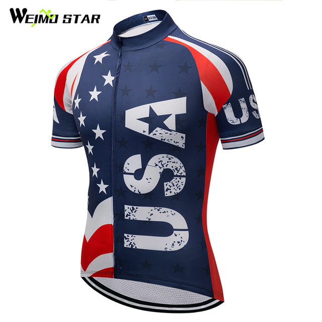 Weimostar Bike Team Racing Sport USA Cycling Jersey Top Summer Bicycle  Cycling Clothing Maillot Ciclismo Road mtb Bike Jersey X1 beb34bd69