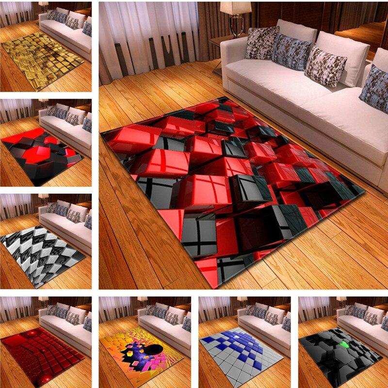 3D Creative gris salon tapis chambre grande taille tapis Restaurant tapis tapis enfants chambre coloré tapis de sol salon tapete