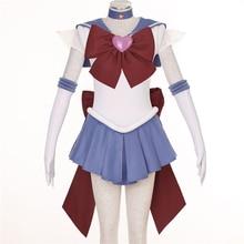 Сейлор Мун Сейлор Сатурн косплей костюм Halloween dress аниме Бесплатная Доставка на заказ третьей серии