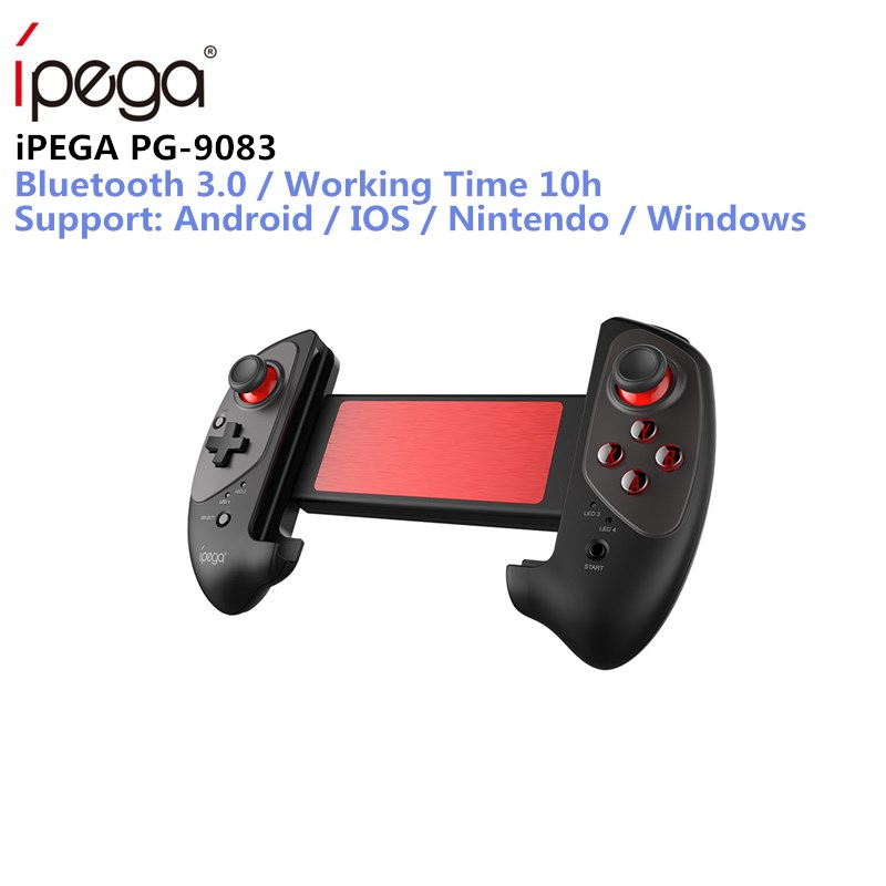 IPEGA PG-9083 PG 9083 Bluetooth Gamepad Wireless Telescopic Game Controller Practical Stretch Joystick Pad for Android/ iOS/ PC ipega pg 9028 practical stretch bluetooth game controller gamepad joystick with stand