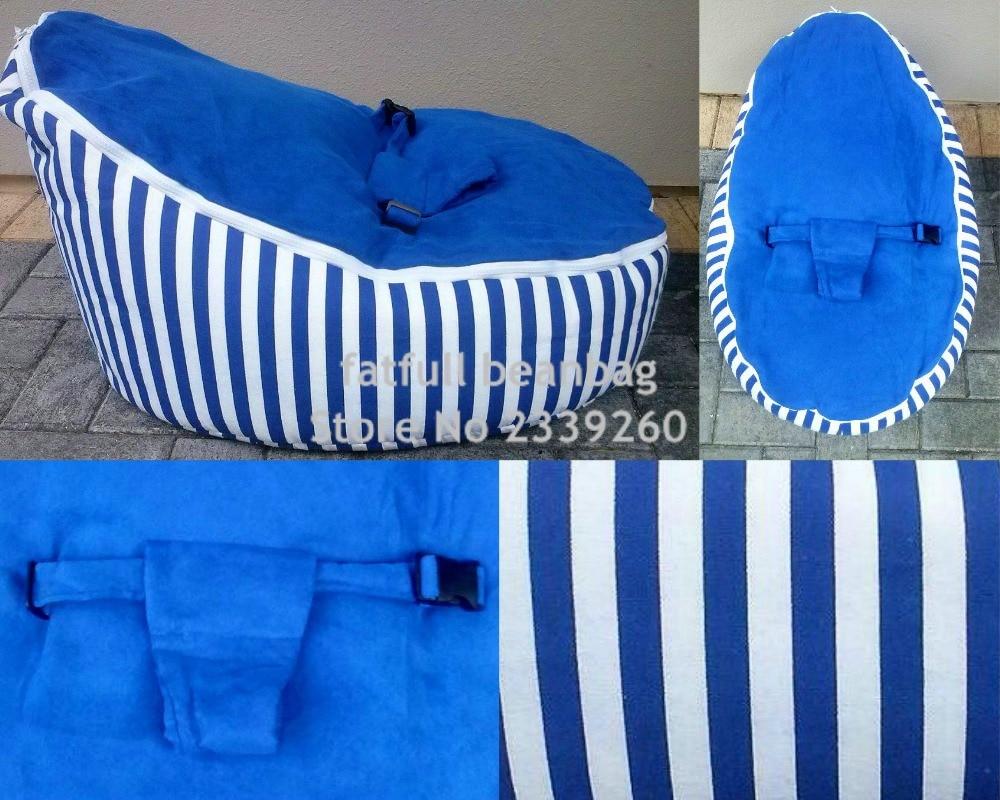 Neueste Kollektion Von Nur, Keine FÜllungen-blauen Streifen Baby Schlafen Sitzsack, Kinder Kleinkinder Sitzsack Sofa Betten