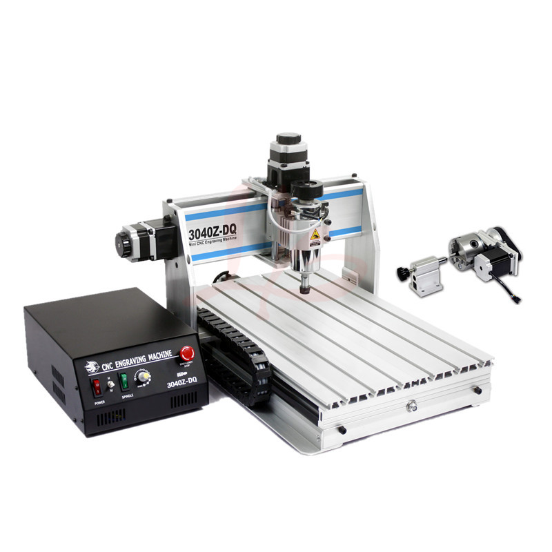 3D cnc router 3040 ZQ-USB 4 axis engraving machine with 300W spindle, usb port 110v/220v jft engraving machines 300w spindle motor 4 axis with usb port high efficient cnc router for woodworking 3020