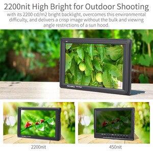 Image 2 - Feelworld fw279 7 Polegada ips 2200nits, câmera para monitoramento de área externa, 4k, entrada hdmi, saída 1920x1200, monitor lcd para dslr