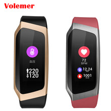 Volemer Smart bracelet E18 Color screen wristband heartrate monitor Blood pressure measurement Fitness tracker band PK mi band 3(China)