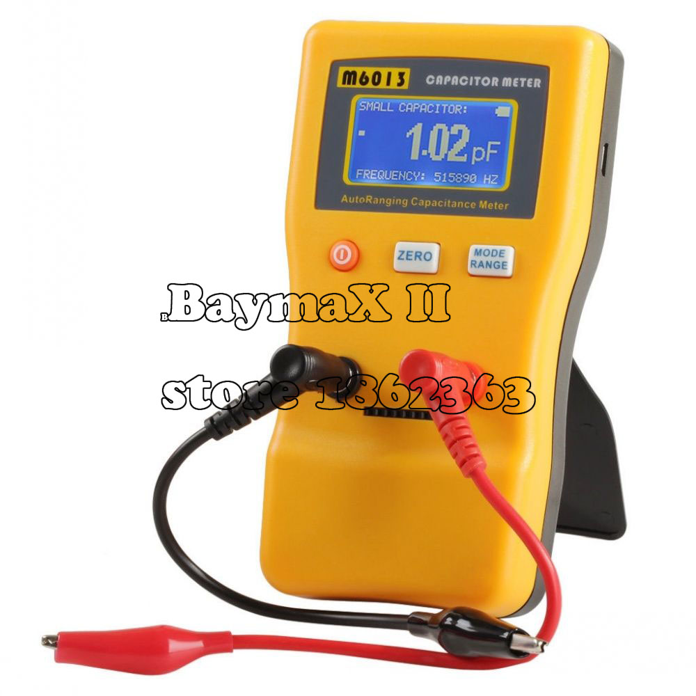 M6013 Digital Auto Ranging Capacitance Meter Tester Capacitor Tester 0.01pF to 470000uF cnim hot m6013 autorange digital capacitor capacitance circuit tester meter multimeter yellow