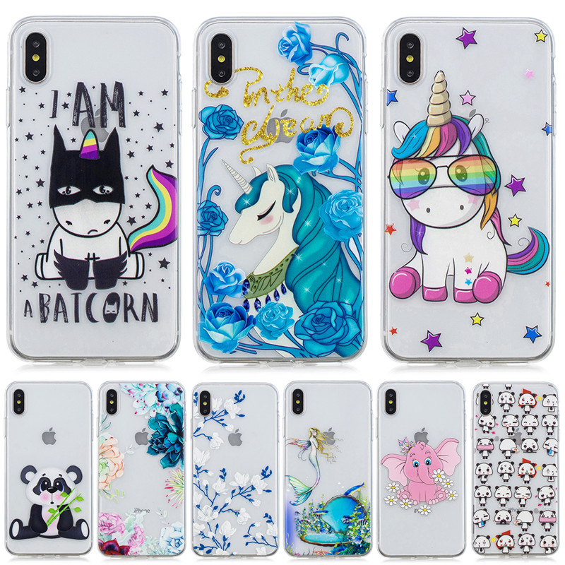 Wekays For Iphone XS Max XR X Cartoon Silicon TPU Soft Case For Apple Iphone 5 5s SE 6 Plus 6s Plus 7 Plus 8 Plus Cover Cases