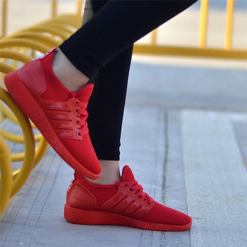Кроссовки для женщины шнуровка женщины кроссовки воздухопроницаемой сеткой женщины спортивная обувь высокое качество Женская обувь 0911