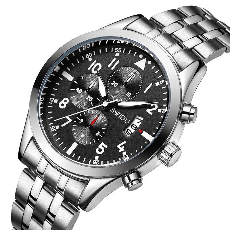 Herrenuhren Kreativ Naviforce Top Marke Luxus Männer Voller Stahl Uhr Quarz Analog Digital Sport Uhren Männlichen Uhr Stunden Relogio Masculino