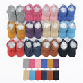 New 3layer long tassel Genuine Leather suede Baby Moccasins First Walker Baby Shoes Chaussure Bebe toddler boots newborn boots