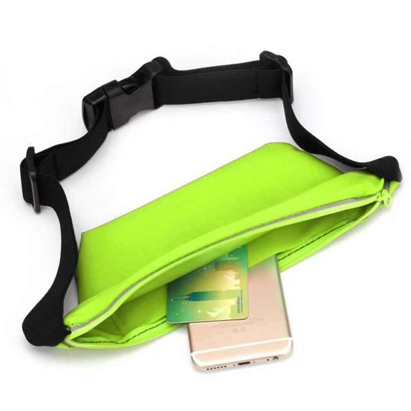 Outdoor Sports Running Waist Bag Utility Gym Fanny Pack Fitness Jogging Belt Bags 5.5 inch Cell Phone Pocket for Men Women #2a (27)