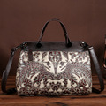 The new leather ladies bag and retro head layer cowhide bag hand brush color satchel one generation