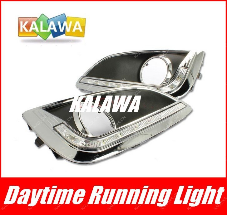 one pair Special LED daytime running lights  case for Hyundai IX35 fog light modification high power car DRL HY-035 GGG one pair car led interior lamp luggage compartment light case for audi vw skoda seat k 030901 freeshipping ggg