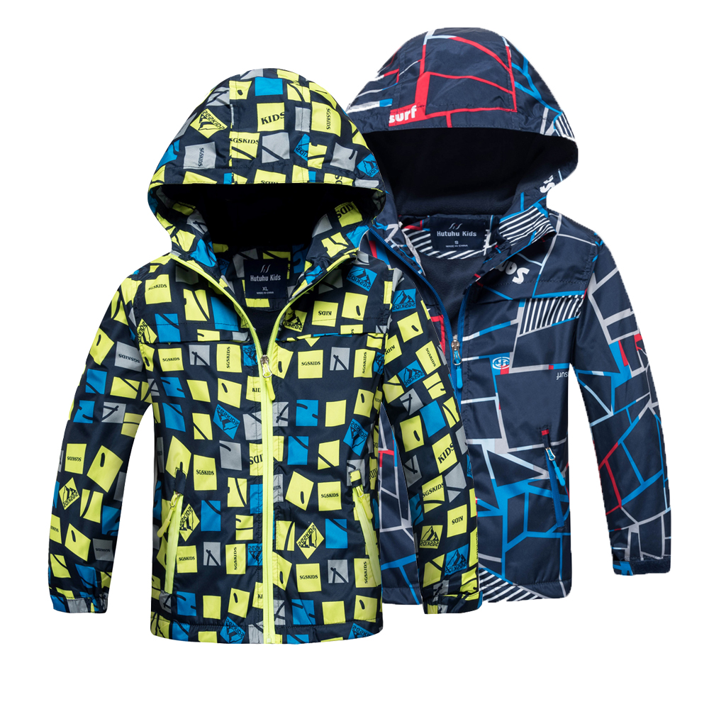 2017 Fashion Boys Jacket Children's Winter Kids Coat Hoodies Windbreakers Waterproof Windproof Boys Jackets 4-15y Spring Autumn