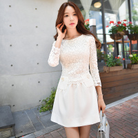 Original New Design Fashion 2018 Brand Spring and Autumn Vestido De Festa Plus Size Slim Elegant Casual Lace Party Dress