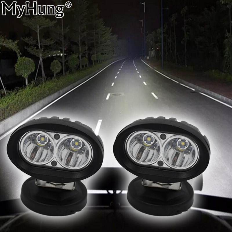 LED Car Work Light 20W 12V Spot Beam SUV Truck Boat Leds Offroad Drive Fog Lamp Assembly ATV 2PCS Auto Accessories Car-Styling tripcraft 4 6inch 40w led work light bar spot flood combo beam for offroad boat truck 4x4 atv uaz 4wd car fog lamp 12v 24v ramp