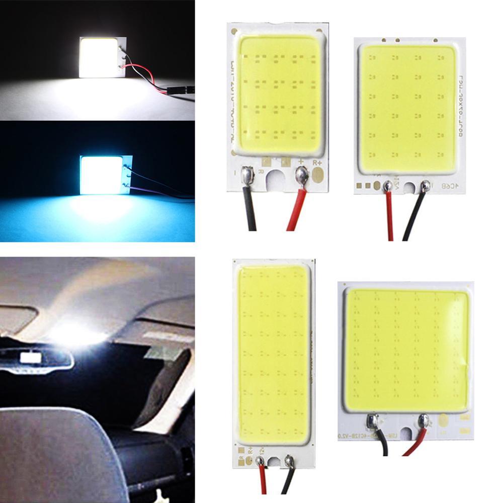 СВЕТОДИОДНЫЙ Автомобильный светильник Iceblue T10 Cob 16/24/36/48 SMD, панель для автомобиля, лампа для чтения салона автомобиля, купольный светильник, 12 В постоянного тока BA9S|Сигнальная лампа| | АлиЭкспресс