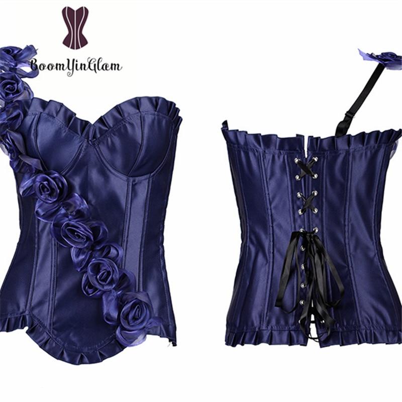 Wholesale price high quality zip side slimming waist shaper hot body shaperwear women   bustier   floral   corset   806#