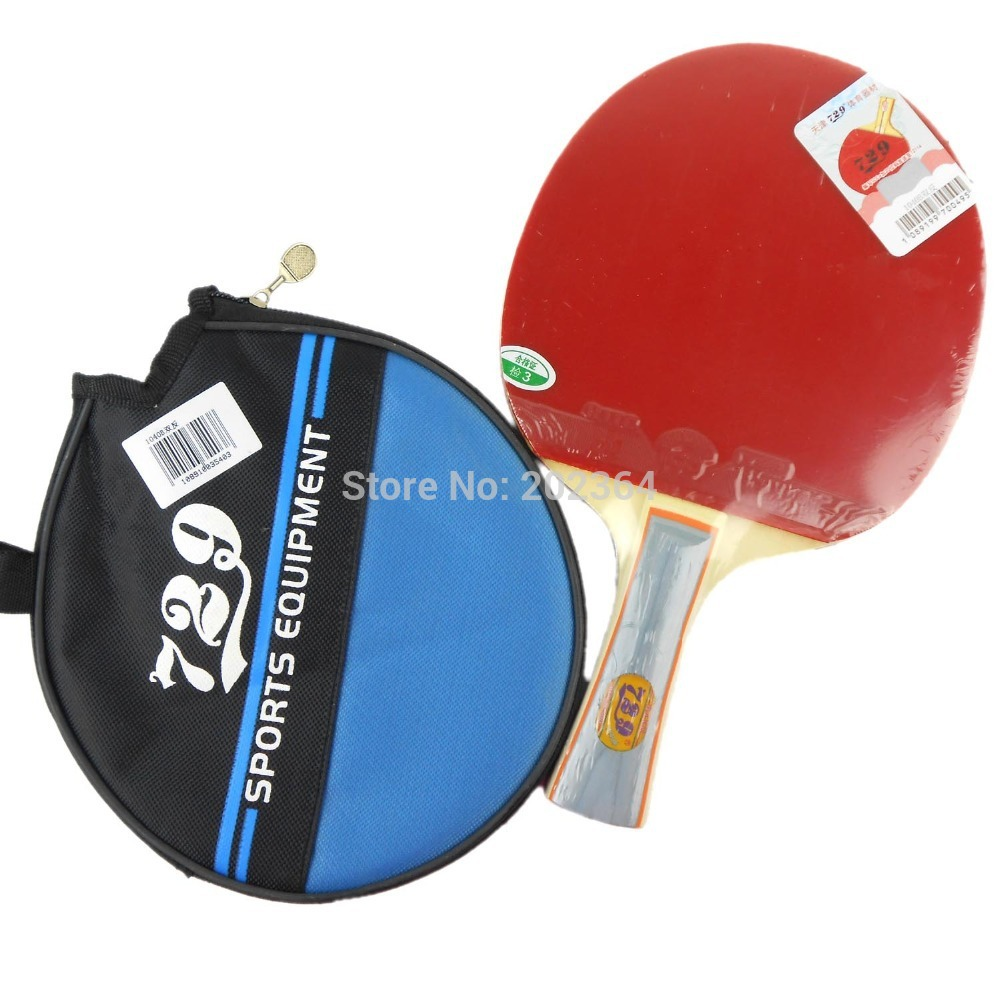 RITC 729 Friendship 1040# Pips-In Table Tennis Racket with Case for PingPong Shakehand long handle FL pro table tennis pingpong combo racket ritc 729 v 6 with 2x ritc 729 new cream rubbers long shakehand fl