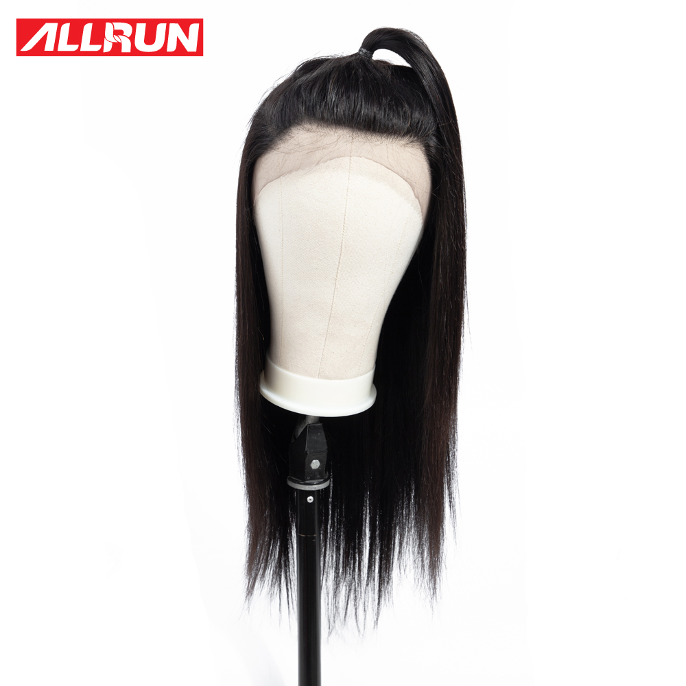 ALLRUN Lace Front Human Hair Wigs Brazilian Straight Lace Wigs non remy Lace Front Wigs Bleached