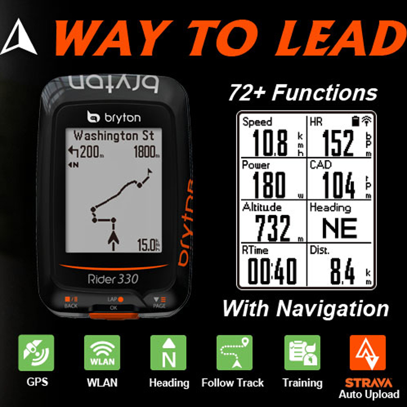 Bryton Rider330 GPS Enabled Waterproof wireless cycling bike mount  speedometer with bicycle garmin edge 200/520/820/1000 mount garmin edge 810 gps enabled bicycle computer bike computer waterproof bicycle speedometer velocimetro bicicleta