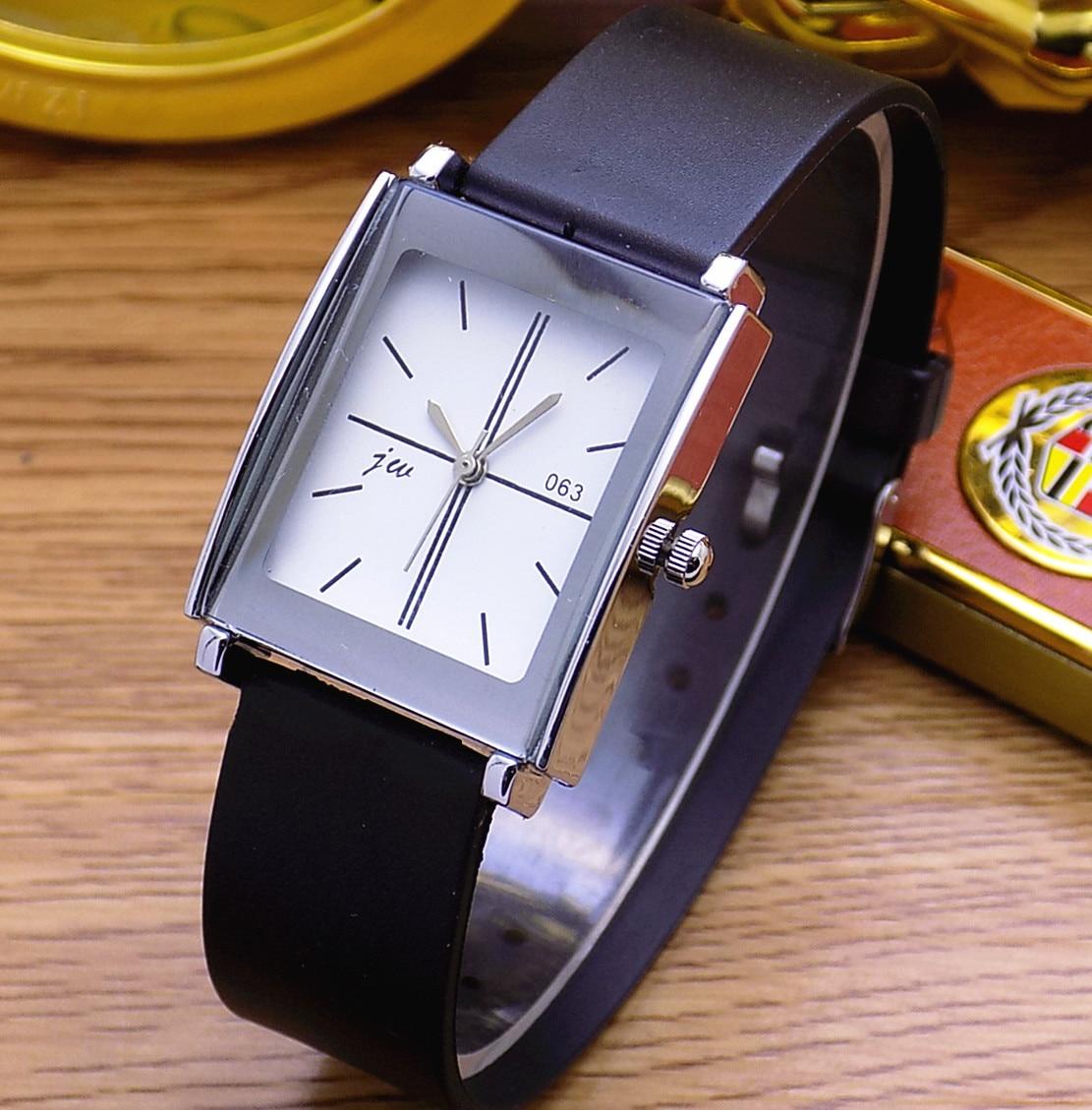 Fashion Jw Brand Casual Quartz Women Men Lover Clock Leather Strap Student Watch Business Square Wristwatches Relogio Masculino(China)