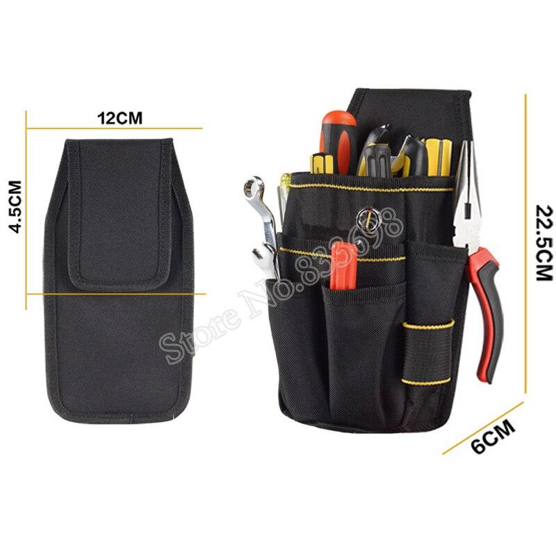 Adjustable tool Bag Belt Pouch Tape Measure /& 2 Hammer Holders 10 Pockets NEW