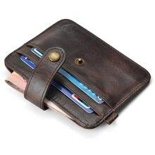 NEW Genuine Leather Thin Card Case Purse Billfold Credit Cards Holder Bag Mini Wallet Key Holder for Bank Cards Pack Cash Pocket