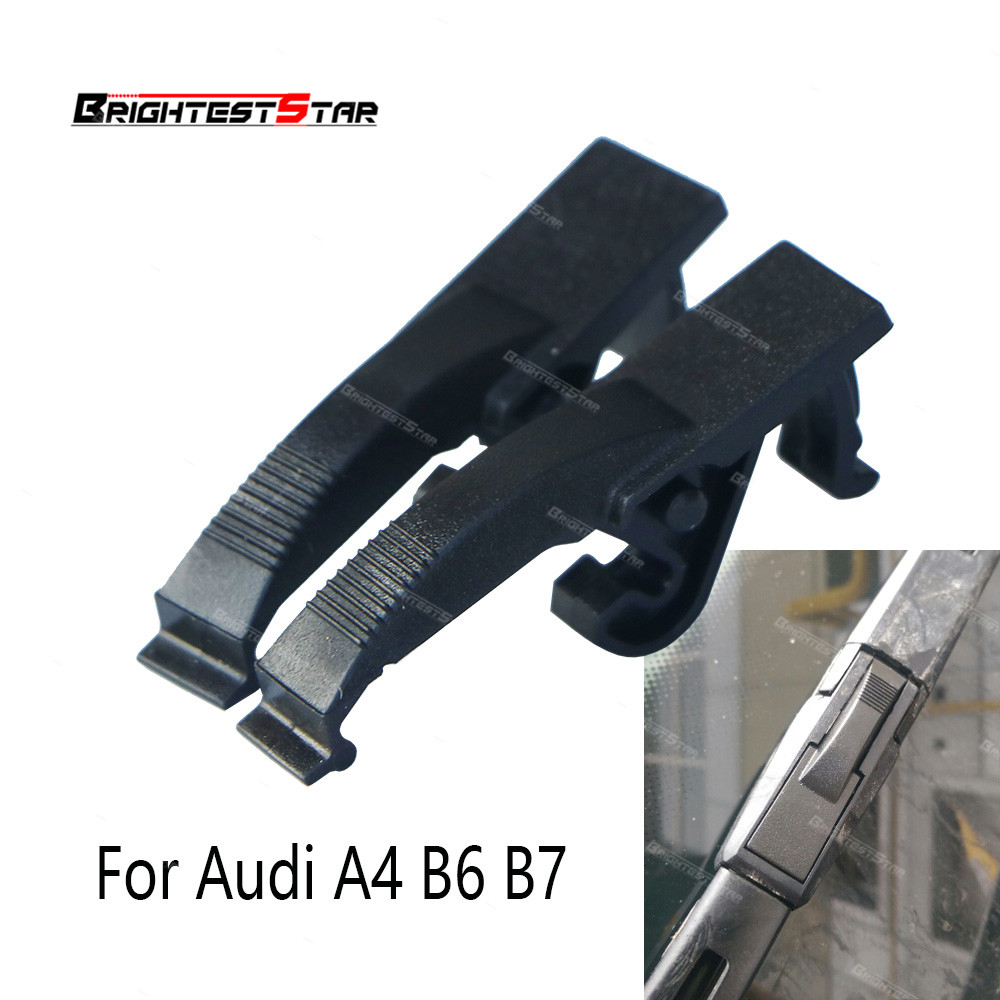 x2 Fit Audi A4 B6 B7 Front Windshield Wiper Blade Clip Connector Clamps For S4 2001-2008 RS4 8E0955247