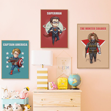 Superhero Cute Character Cartoon Marvel Canvas Print Home Decoration – 6