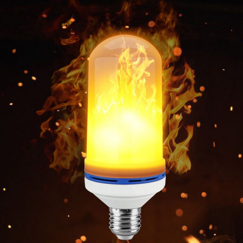 Fire Light Bulb LED Flame Effect Flickering Flame Lamp Simulated Party Christmas Decor AC95-265V E26/E27