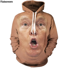 Donald Trump Shocked Face Hoodies Sweatshirts Men Women New Fashion Hip Hop Streetwear Pulover Hoody Tops 3D Tracksuit 5XL pulover galvanni pulover