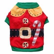 Милая маленькая собачка, Подгонянная собачка, кошка, Рождественский свитер Санты, кошка, Одежда для животных для щенков, собака, рубашка, пальто, костюмы