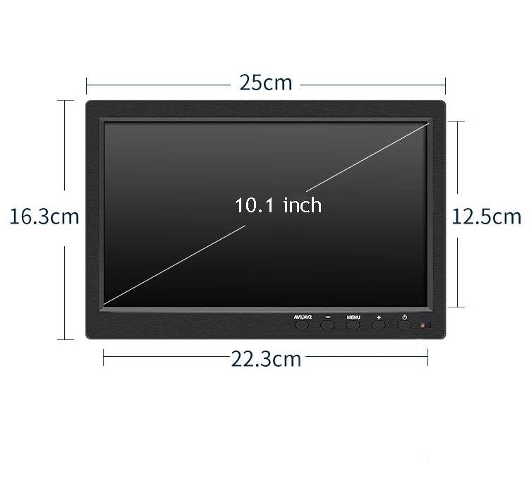 HF 10.1 Inch 1024 * 600P CCTV Monitor AV HDMI BNC VGA Video Monitor PAL Monitor Reversing Display Laptop TFT Color Screen 2