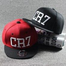 CR7 kids baseball cap snapback hat adjustable canvas hip hop boys girls snapback embroidered Cristiano Ronaldo snapback