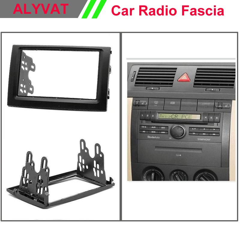 Top quality Car Radio Facia Frames for SKODA Fabia 2003 2004 2005 2006 Stereo Fascia Dash CD Trim Installation Kit