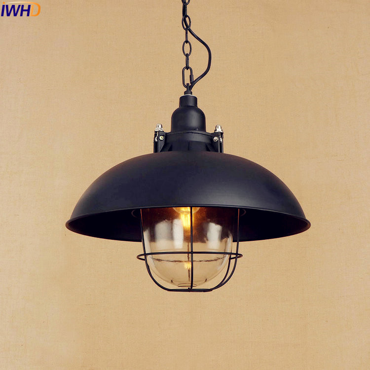 buy iwhd style loft industrial pendant lights fixtures lampen american vintage