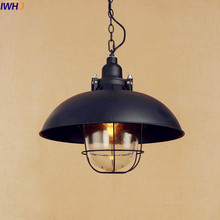High Quality IWHD Loft Industrial Pendant Lights Fixtures Lampen American Vintage Style  Luminaire Pictures