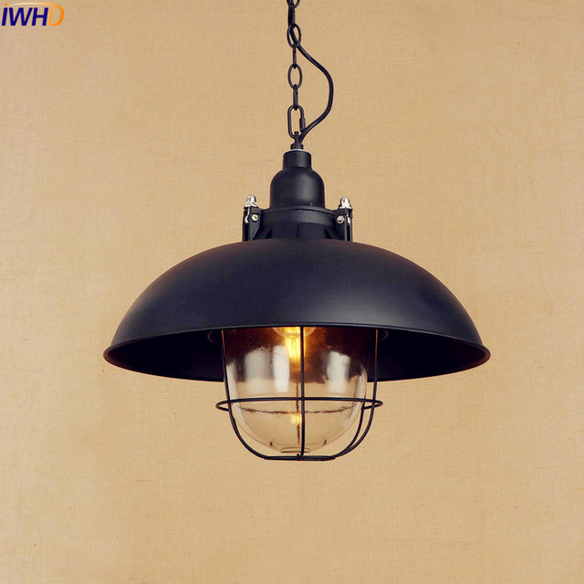 IWHD Style Loft Industrial Pendant Lights Fixtures Lampen American Vintage  Style Light Fixtures Luminaire Lamparas