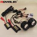 ROYALIN 2.5 Mini Bi Xenon HID Proyector Faros Lente Kit AC Bombillas H1 Lastre Delgado Arnés Relay Controlador para H4 H7 Coches DIY